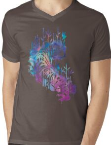 Watercolor tiger Mens V-Neck T-Shirt