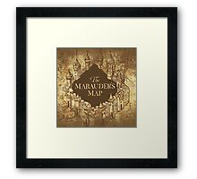 Distressed Maps: Harry Potter Marauder's Map Framed Print