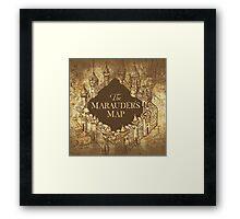 Distressed Maps: Harry Potter Marauder's Map Framed Print