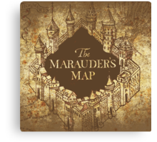 Distressed Maps: Harry Potter Marauder's Map Canvas Print