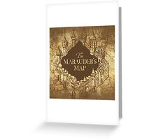 Distressed Maps: Harry Potter Marauder's Map Greeting Card