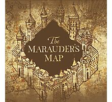 Distressed Maps: Harry Potter Marauder's Map Photographic Print