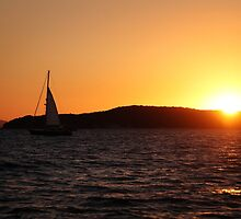 Sunset sail. by Andy Newman