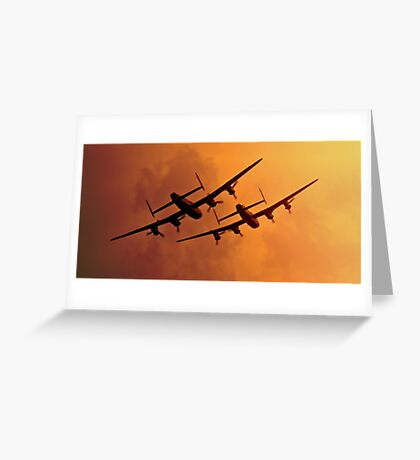 Avro Lancasters Greeting Card