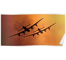 Avro Lancasters Poster
