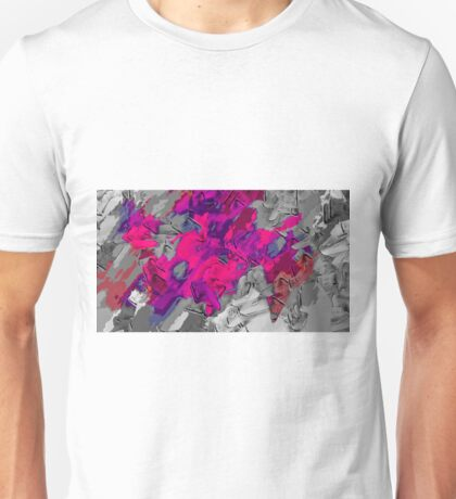 pink purple black painting texture abstract background Unisex T-Shirt