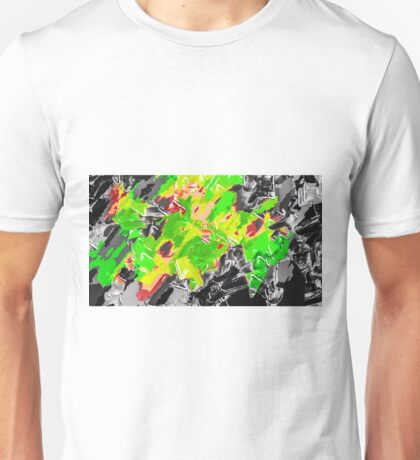 green yellow brown black painting texture abstract background Unisex T-Shirt