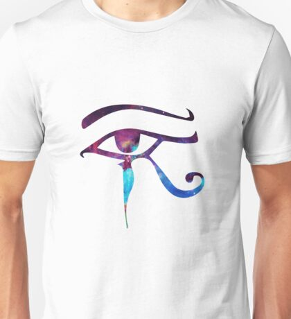 Horus Eye Egyptian Magic Galaxy Unisex T-Shirt