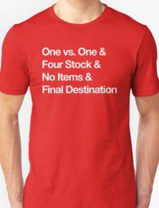 Super Smash Bros Pro Rules - Helvetica  Unisex T-Shirt