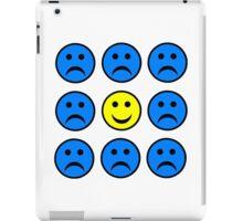 Happy Smiley in a Crowd of Unhappy Faces iPad Case/Skin