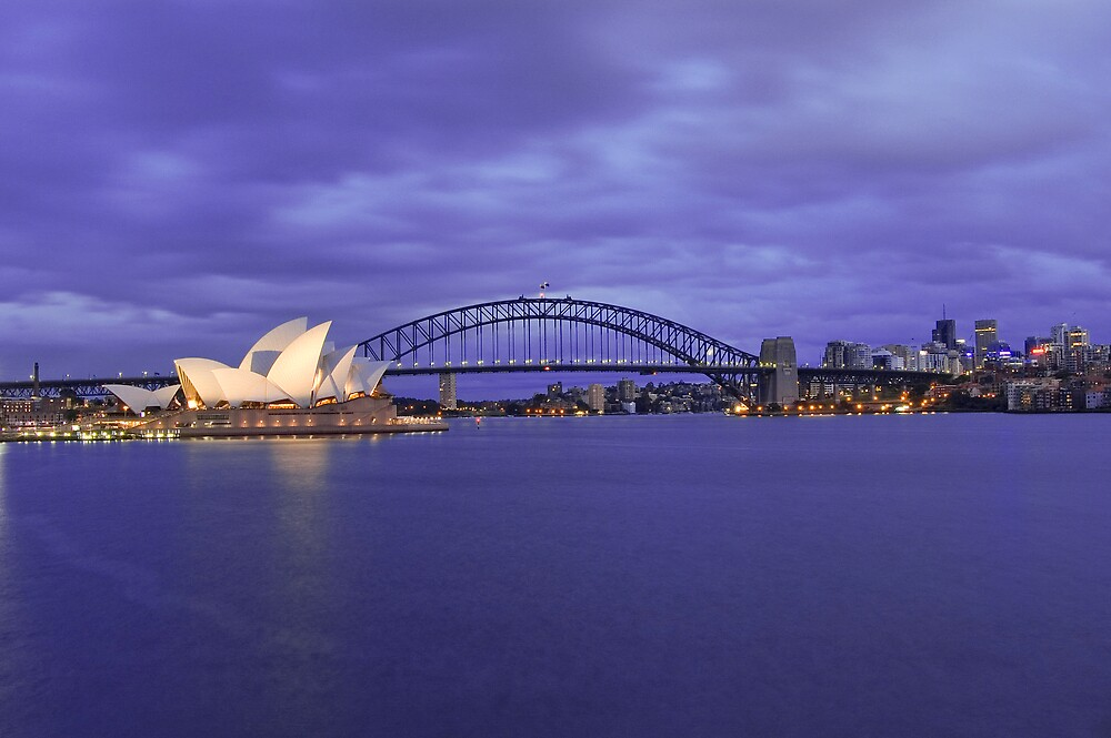 Sydney Harbour Sunrise by Nathan T