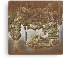 Distressed Maps: Pokemon Kanto Canvas Print