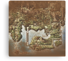 Distressed Maps: Pokemon Kanto Canvas Print