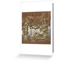 Distressed Maps: Pokemon Kanto Greeting Card