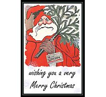 Wishing You A Very Merry Christmas Greeting Card Photographic Print