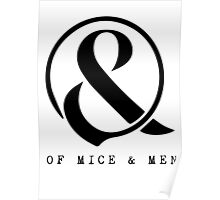Of Mice & Men Ampersand Logo Merch Poster