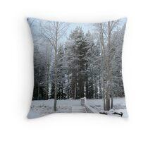 Snow Bridge Throw Pillow