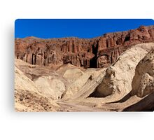 Golden Canyon and Red Cathedral. Canvas Print