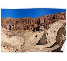 Golden Canyon and Red Cathedral. Poster