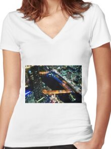 Good night Melbourne  Women's Fitted V-Neck T-Shirt