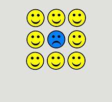 Sad Smiley Face in a Crowd of Happy Smilies Unisex T-Shirt