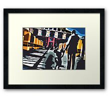 Welcome to Legends Plaza Framed Print
