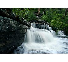 Water Bursts forth from the rock Photographic Print