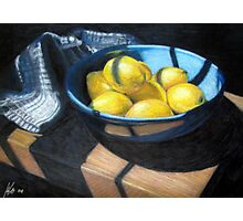Bowl of Lemons Photographic Print
