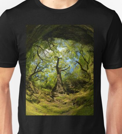 Ness Glen, Mystical Irish Wood Unisex T-Shirt