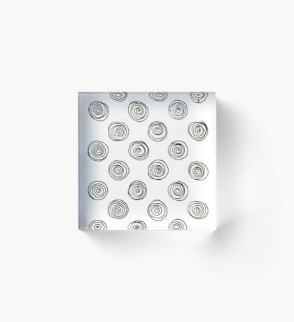 Home deco shop : Circles black and white Acrylic Block