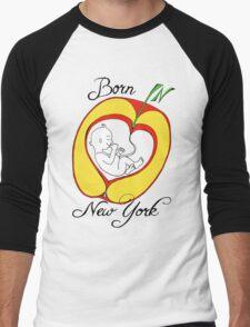 Born in New York Men's Baseball ¾ T-Shirt