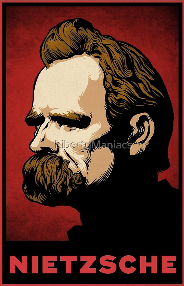 Nietzsche Print by LibertyManiacs