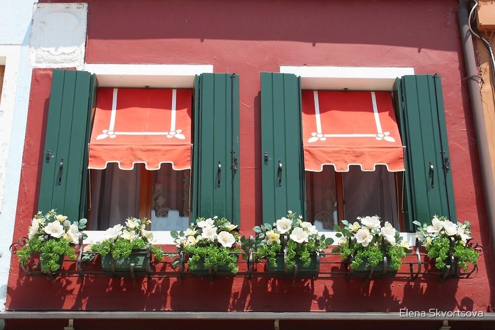 Burano windows by Elena Skvortsova