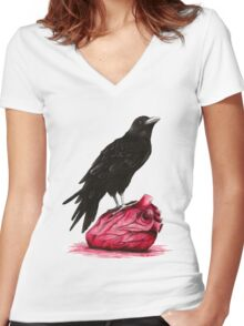quote the raven: nevermore Women's Fitted V-Neck T-Shirt