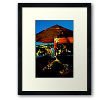ROOF (DECK) OF THE WORLD Framed Print
