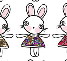 Best dress bunnies Sticker