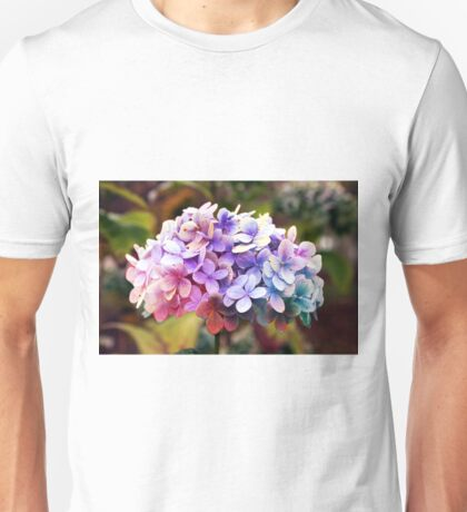 Hydrangea full of colour Unisex T-Shirt