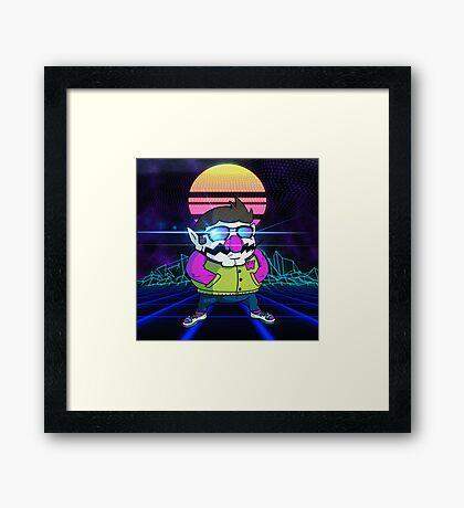 Outrun Wario Framed Print