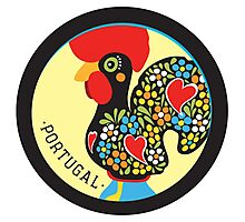 Symbols of Portugal - Rooster Photographic Print