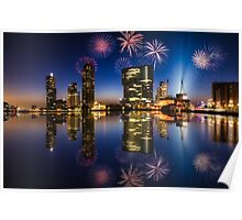 New Years eve fireworks - Rotterdam Poster
