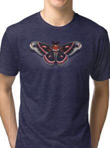 Cecropia Moth Tri-blend T-Shirt