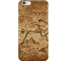 Distressed Maps: Elder Scrolls Skyrim iPhone Case/Skin