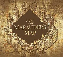 Distressed Maps: Harry Potter Marauder's Map by Alice Edwards