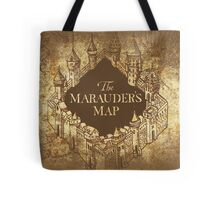 Distressed Maps: Harry Potter Marauder's Map Tote Bag