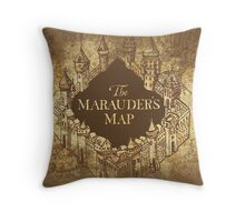 Distressed Maps: Harry Potter Marauder's Map Throw Pillow