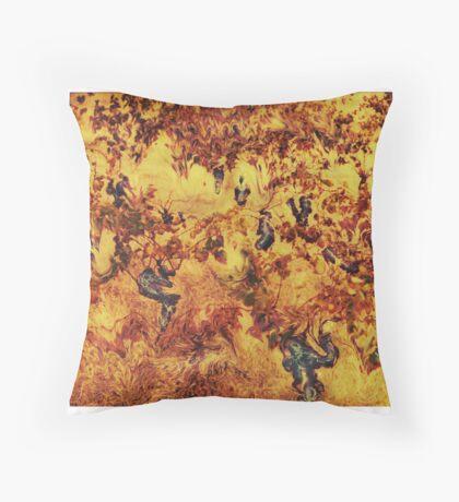 Abondoned vineyard Throw Pillow