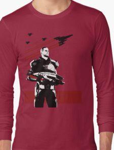 N7- Commander Shepard (Male) Long Sleeve T-Shirt
