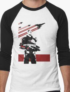 N7- Commander Shepard (Male) Men's Baseball ¾ T-Shirt