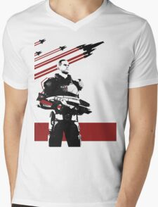 N7- Commander Shepard (Male) Mens V-Neck T-Shirt