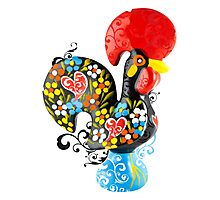 Symbols of Portugal - floral Rooster Photographic Print